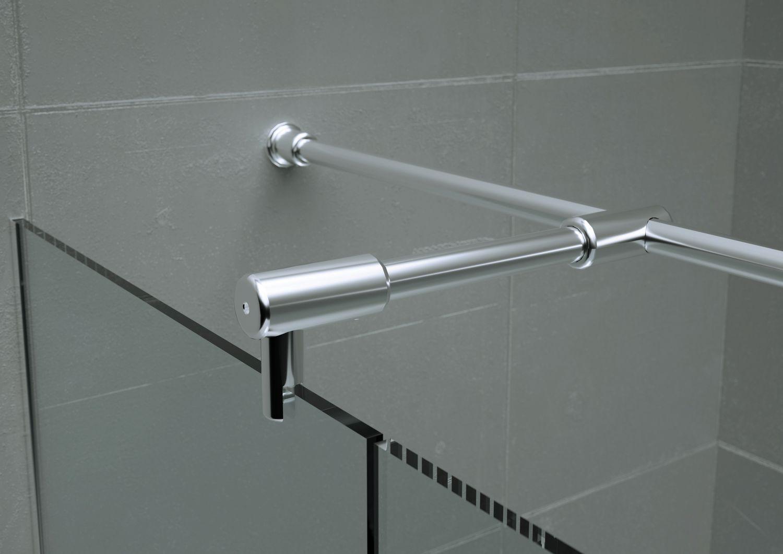 braccio fissaggio vetro doccia