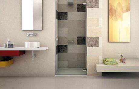 Bilobina hinges for shower enclosures