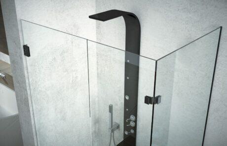 box doccia profili neri Colcom