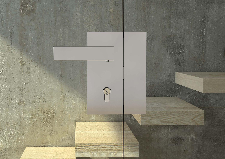 serratura verticale porte a vetro doppie colcom