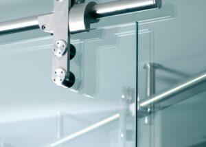 sistemi scorrevoli per porte in vetro Colcom