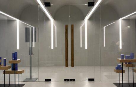 cerniere idrauliche per porte in vetro e porte per sauna