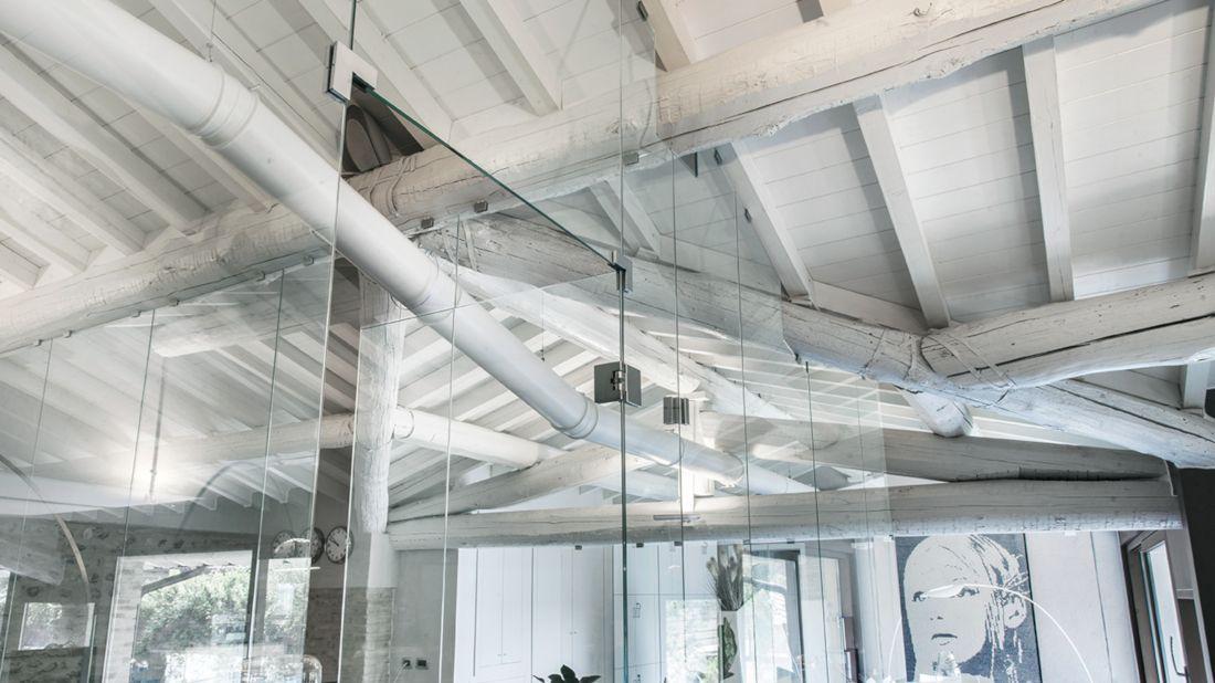 pareti vetro divisorie ufficio Colcom