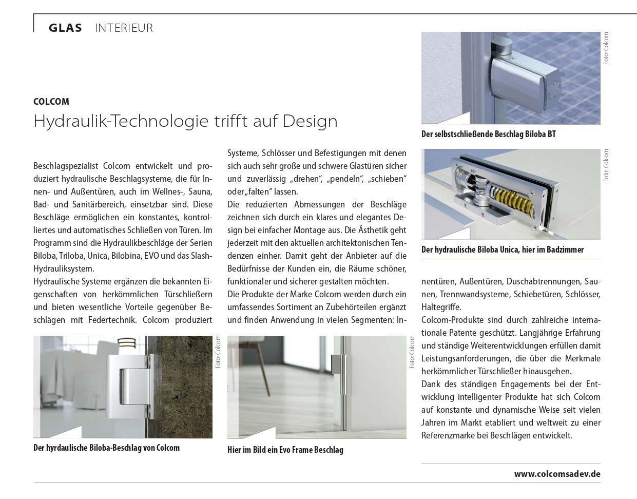 Glaswelt November 2020 Artikel