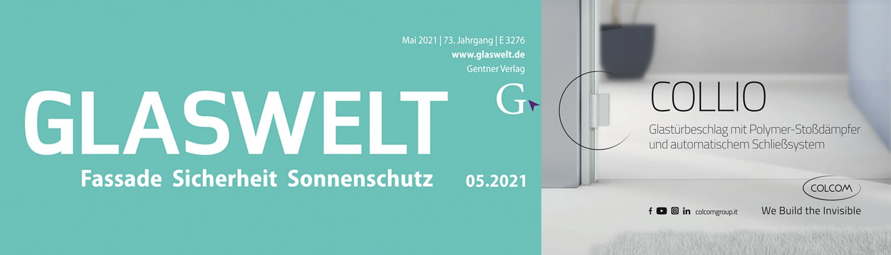 Copertina Glaswelt Maggio 21
